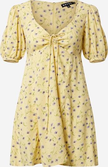 Motel Kleid 'Carie' in gelb / grün / lila, Produktansicht