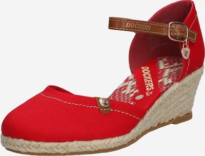 Dockers by Gerli Sandale in beige / rot, Produktansicht