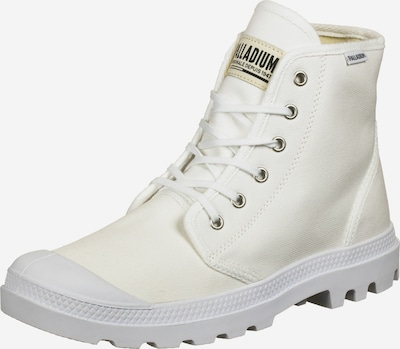 Palladium Lace-Up Boots 'Pampa Hi' in White, Item view