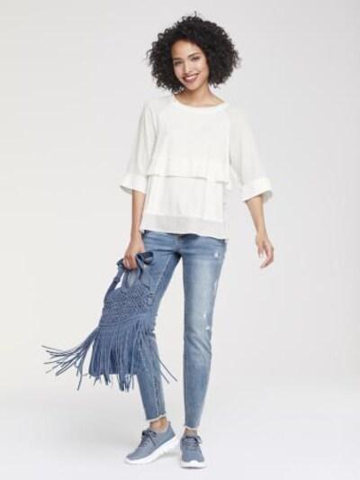 Marškinėliai iš heine , spalva - balkšva, Prekių apžvalga