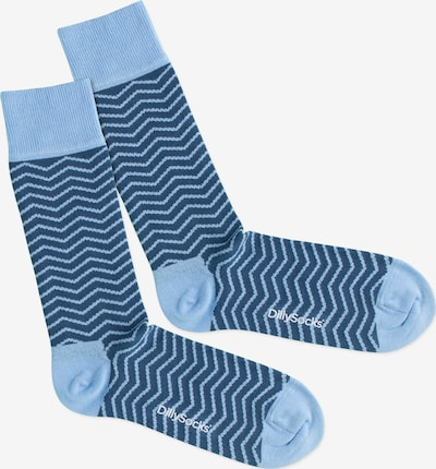DillySocks Socken 'Square Wave' in blau / hellblau, Produktansicht