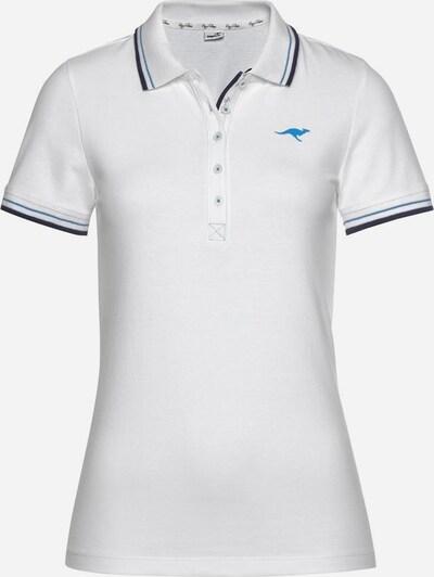 KangaROOS Poloshirt in weiß, Produktansicht
