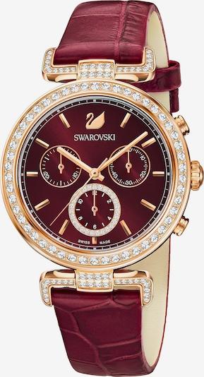Swarovski Uhr in gold / rubinrot, Produktansicht