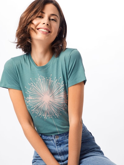 Iriedaily T-shirt 'Blowball' en vert / blanc: Vue de face