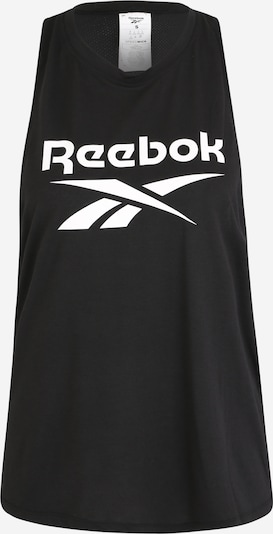 REEBOK Sporttop in de kleur Zwart / Wit: Vooraanzicht