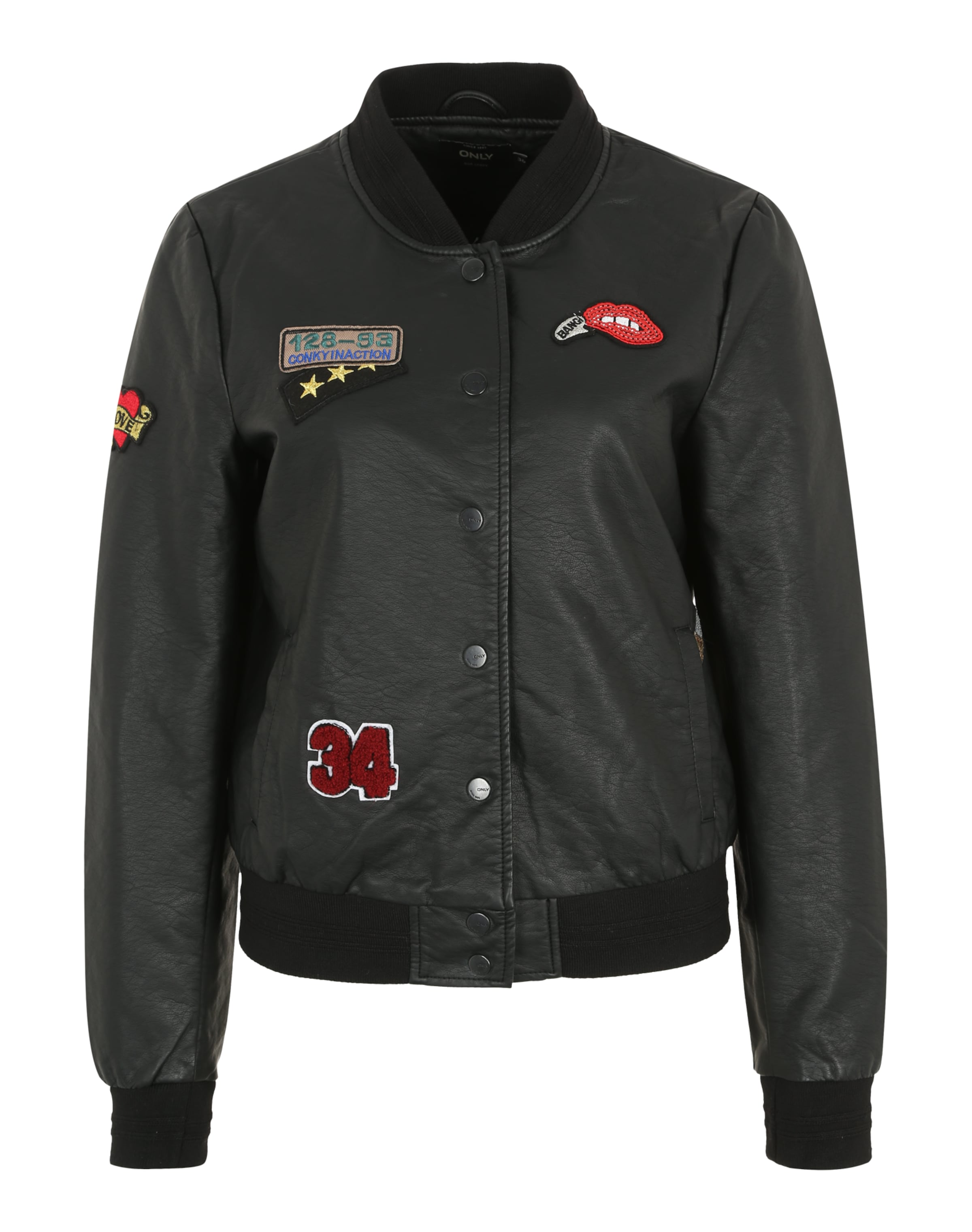 'onlSANDY BADGE' Lederjacke