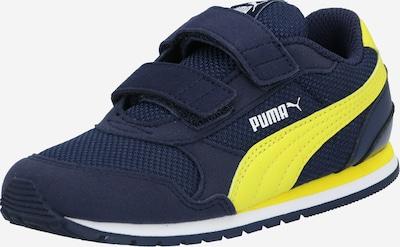 PUMA Baskets 'Runner' en bleu marine / jaune: Vue de face