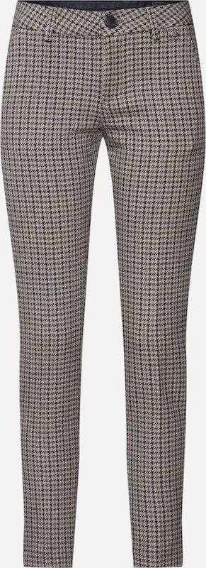 Herrlicher Hose 'Lovely Poly Check' in nachtblau / curry / khaki, Produktansicht