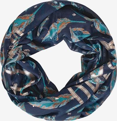 CECIL Loop mit Schimmer-Schrift in blau, Produktansicht