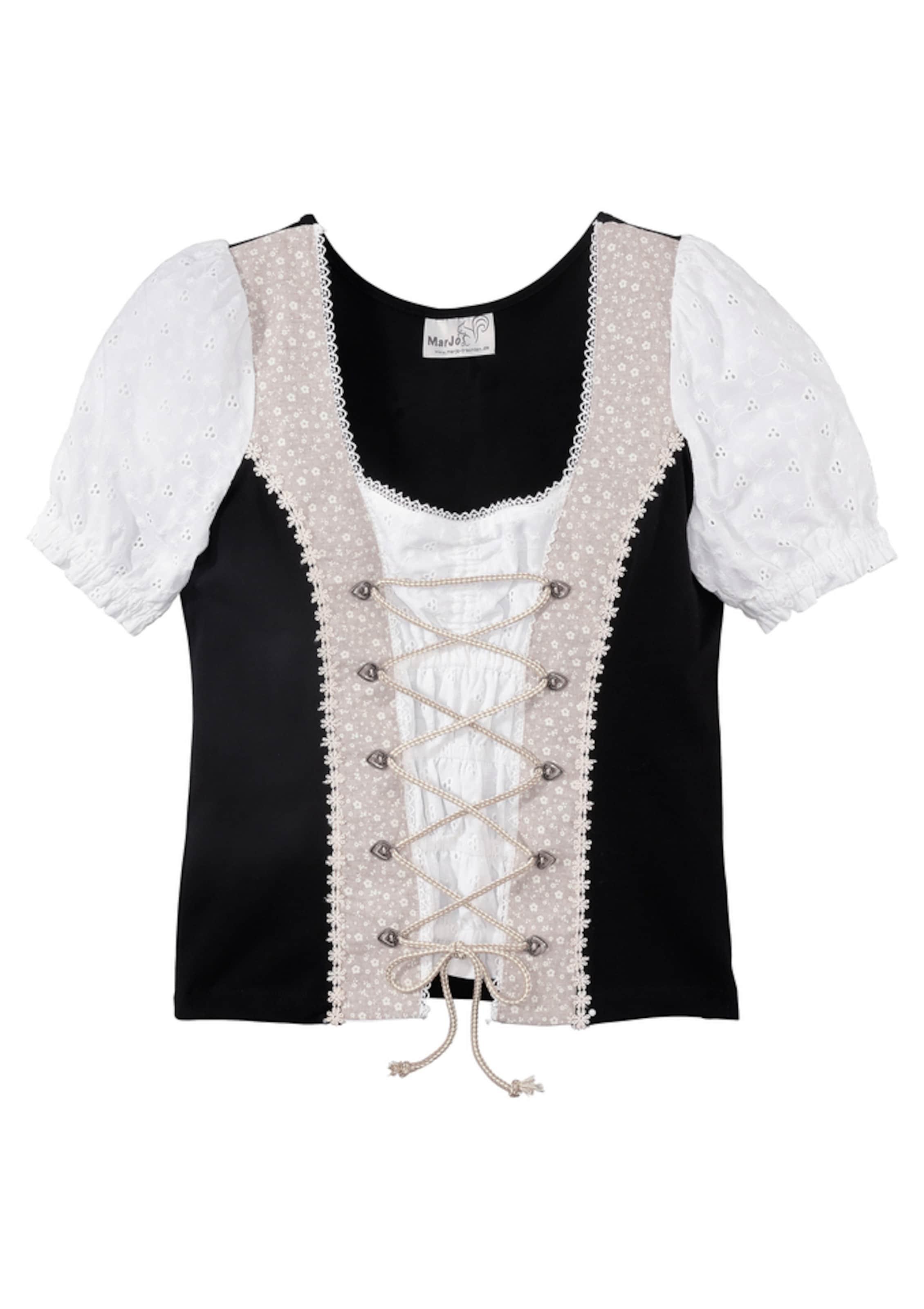 Chemise PoudreNoir Blanc En Marjo Folklorique 4ARL5j3q
