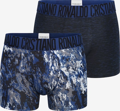 CR7 - Cristiano Ronaldo Shorts 'Fashion' in blau / navy / grau / weiß, Produktansicht