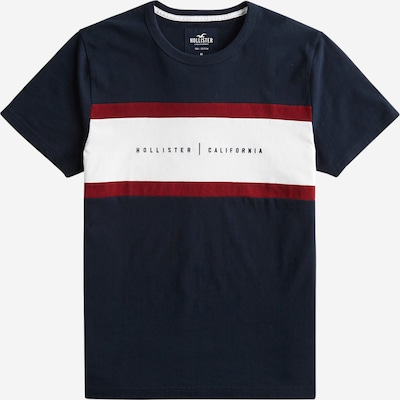 HOLLISTER Tričko - námornícka modrá / červená / biela, Produkt