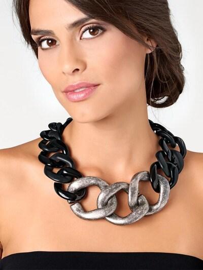 heine Kette in schwarz / silber, Produktansicht