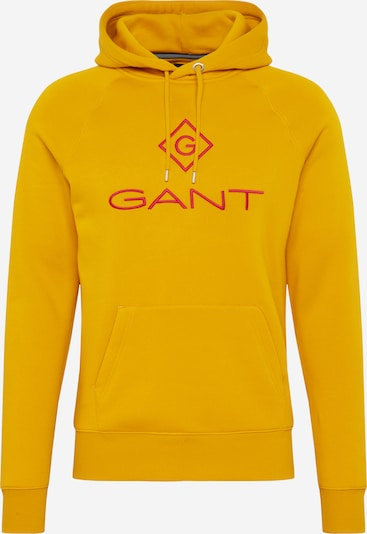 GANT Sweatshirt 'LOCK UP' in goldgelb / rot: Frontalansicht