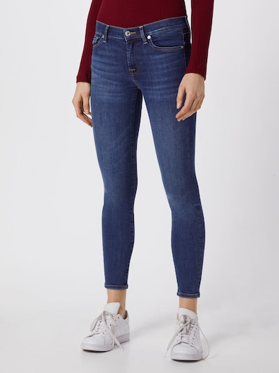 7 for all mankind Jeans 'The Skinny Crop' in blue denim, Modelansicht