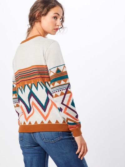 Iriedaily Pull-over 'Hopi Knit' en écru / rouge orangé: Vue de dos