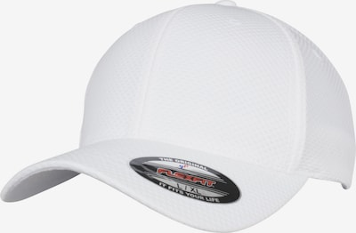 Flexfit Cap '3D Hexagon' in weiß: Frontalansicht