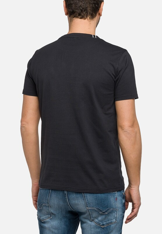 REPLAY T-Shirt mit Print und Nieten