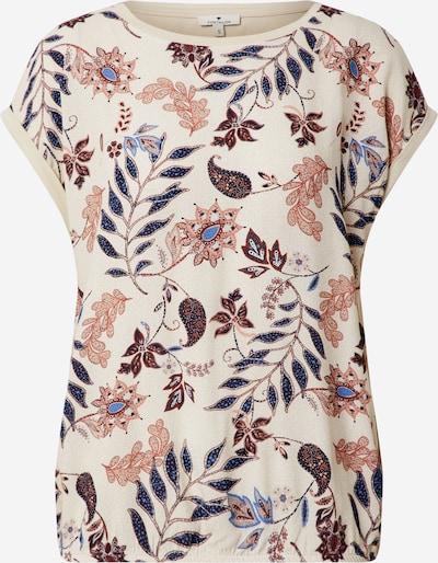 TOM TAILOR T-shirt in beige / blau / braun, Produktansicht