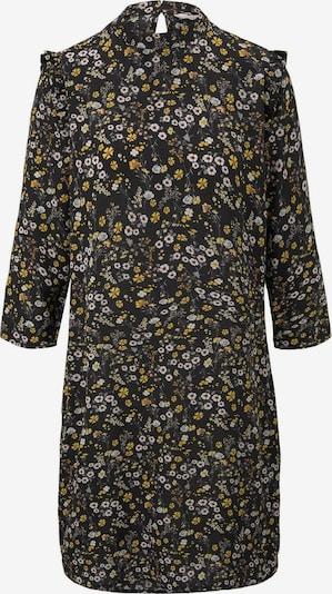 TOM TAILOR DENIM Kleid in limone / hellgrau / schwarz / weiß, Produktansicht