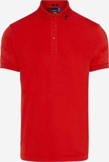J.Lindeberg Poloshirt in rot, Produktansicht