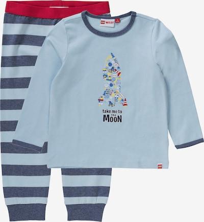 LEGO WEAR Baby Schlafanzug 'DUPLO' für Jungen in hellblau / dunkelblau / rot, Produktansicht