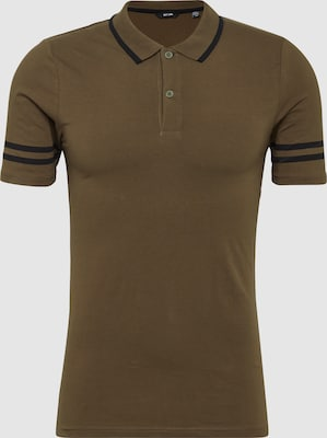 Only & Sons Shirt 'onsPALLE MUSCLE FIT SS POLO EXP' in Olijfgroen