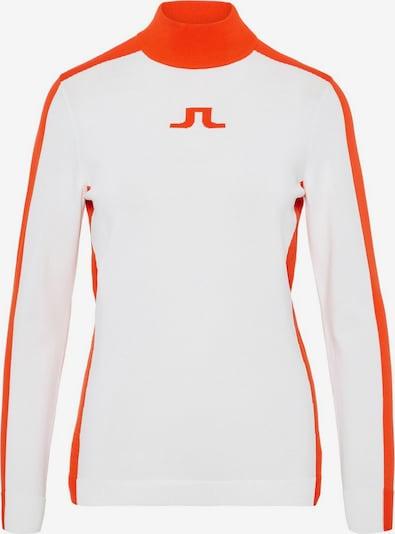 J.Lindeberg Pullover 'Adia' in orange / weiß: Frontalansicht