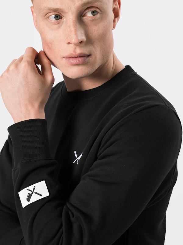 'dna Zwart Classic Distortedpeople In Wit Sweater' Sweatshirt 5wq00xSg