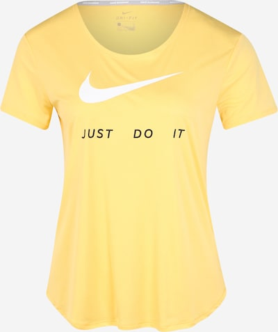 NIKE Sport-Shirt in gelb / schwarz / weiß, Produktansicht