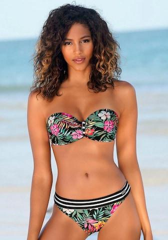 VENICE BEACH Bandeau-Bikini-Top in Schwarz