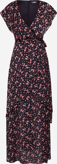 Missguided Kleit 'Floral Plunge Wrap Ruffle High Low Dress' punane / must, Tootevaade