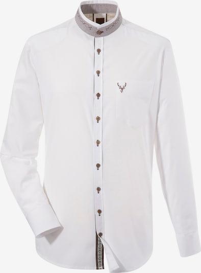 OS-TRACHTEN Trachtenhemd in braun / weiß, Produktansicht