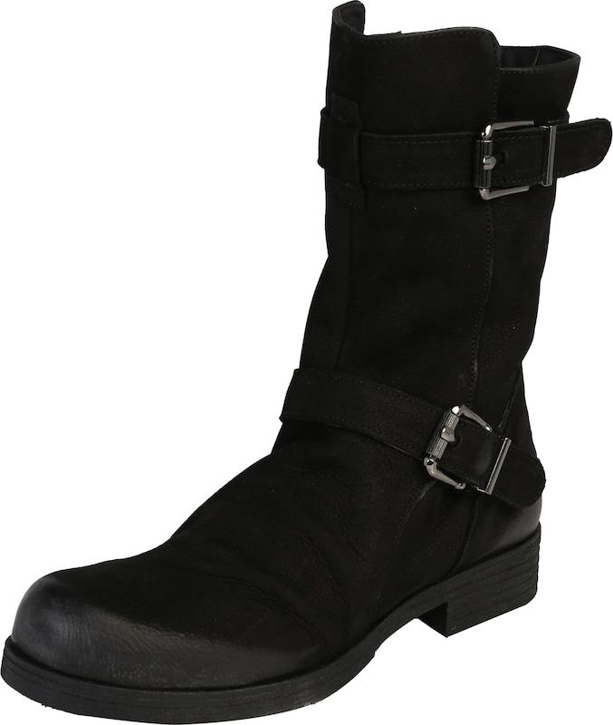 s oliver red label boots mit schnallen in schwarz about you. Black Bedroom Furniture Sets. Home Design Ideas