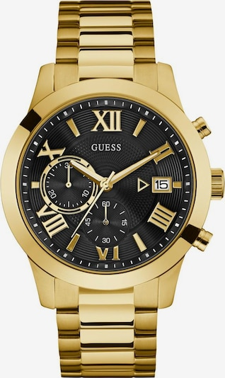 GUESS Chronograph 'Atlas W0668G8' in gold / schwarz: Frontalansicht