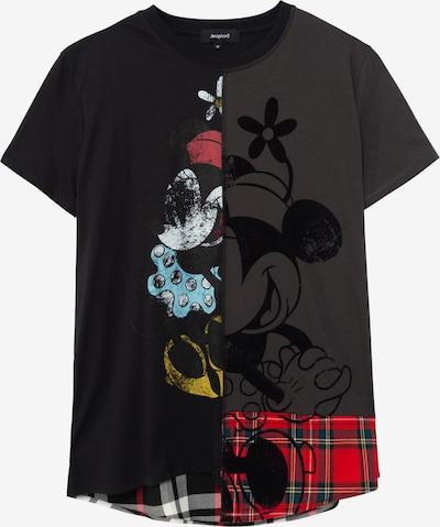 Desigual T-shirt 'MINNIEMIX' en bleu clair / rouge / noir / blanc, Vue avec produit