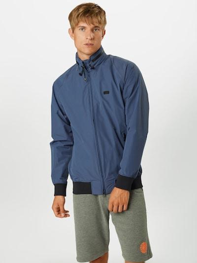 Barbour International Prechodná bunda - modrá melírovaná: Pohľad spredu