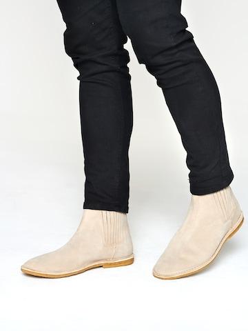 DAN FOX APPAREL Chelsea boots 'Keno' in Beige