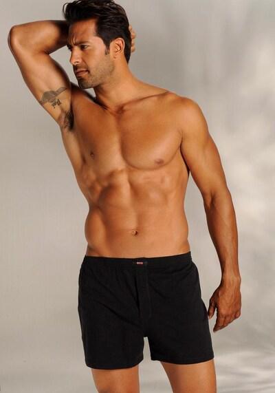 HIS JEANS Boxershorts i svart: Sedd framifrån