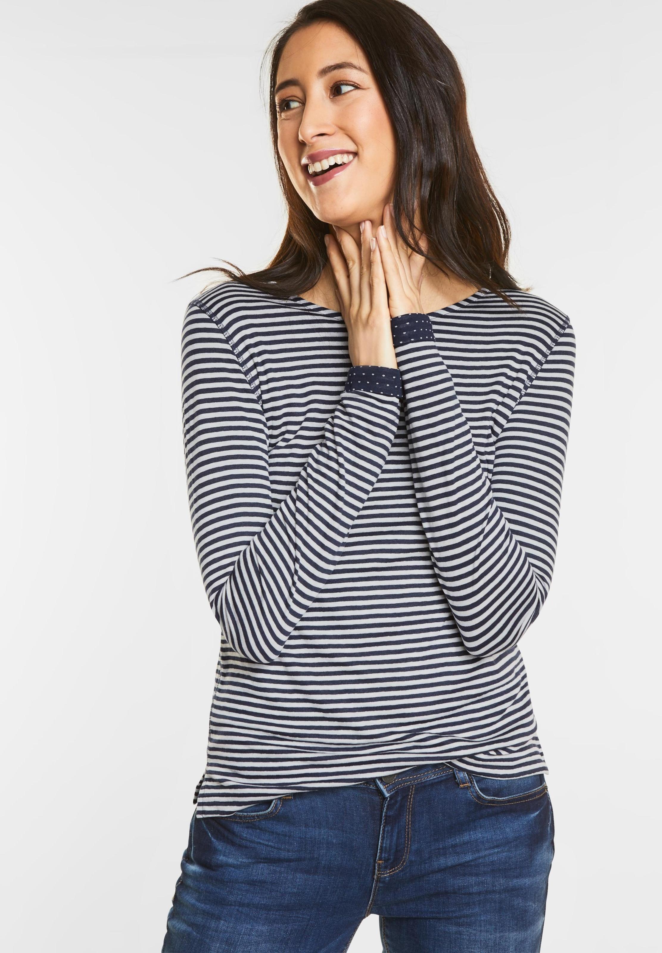 STREET ONE Doubleface Streifenshirt Authentisch Verkauf Wirklich Günstigste Online-Verkauf HFAiu