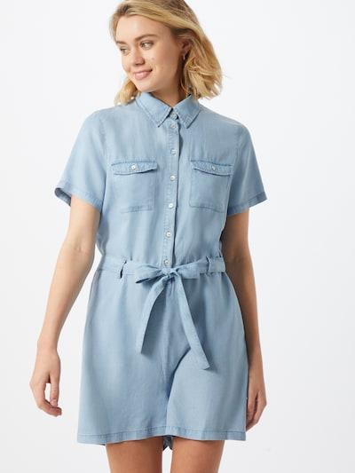 ONLY Playsuit  'ONLMIRANDA' in blue denim, Modelansicht