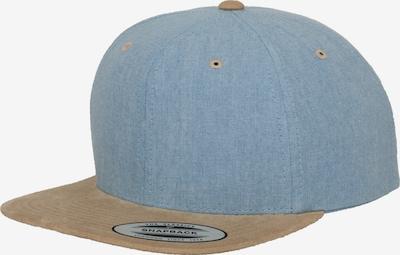 Cappello da baseball Flexfit di colore nudo / blu chiaro, Visualizzazione prodotti