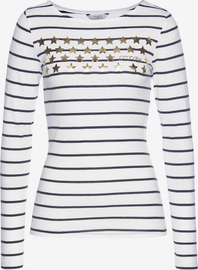 Tom Tailor Polo Team Shirt in nachtblau / gold / weiß, Produktansicht