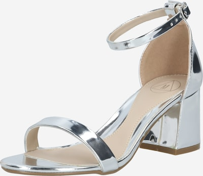 Missguided Strap sandal in silver, Item view