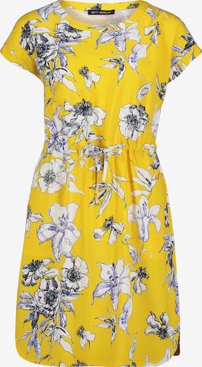 Betty Barclay Sommerkleid mit Tunnelzug in gelb / weiß, Produktansicht
