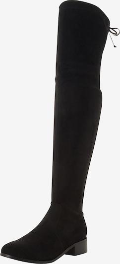 Cizme peste genunchi 'TARAA' Head Over Heels pe negru, Vizualizare produs