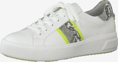 TAMARIS Sneaker in grau / neongrün / weiß, Produktansicht