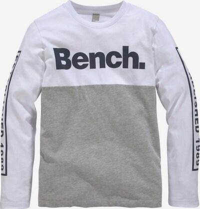 BENCH Shirt in enzian / graumeliert / weiß, Produktansicht