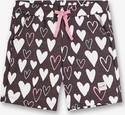 SANETTA Trousers in taupe / rosé / weiß, Produktansicht