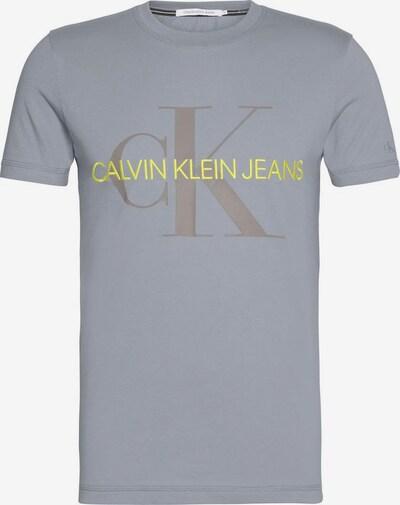 Calvin Klein Jeans Shirt in limone / grau, Produktansicht